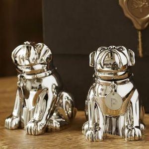 Pottery barn salt and pepper bulldog gift set